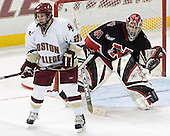 Dan Bertram, Adam Geragosian - The Boston College Eagles defeated Northeastern University Huskies 5-3 on Saturday, November 19, 2005, at Kelley Rink in Conte Forum at Chestnut Hill, MA.