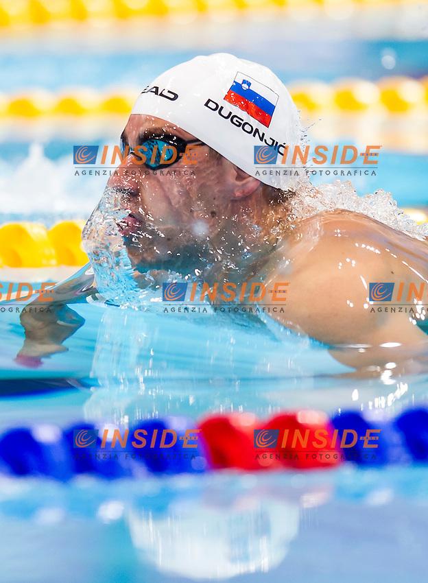 DUGONJIC Damir SLO<br /> London, Queen Elizabeth II Olympic Park Pool <br /> LEN 2016 European Aquatics Elite Championships <br /> Swimming<br /> Men's 100m breaststroke final <br /> Day 09 17-05-2016<br /> Photo Giorgio Perottino/Deepbluemedia/Insidefoto
