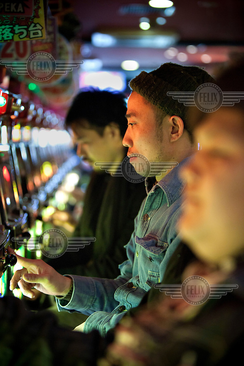 Gamblers on slot machines