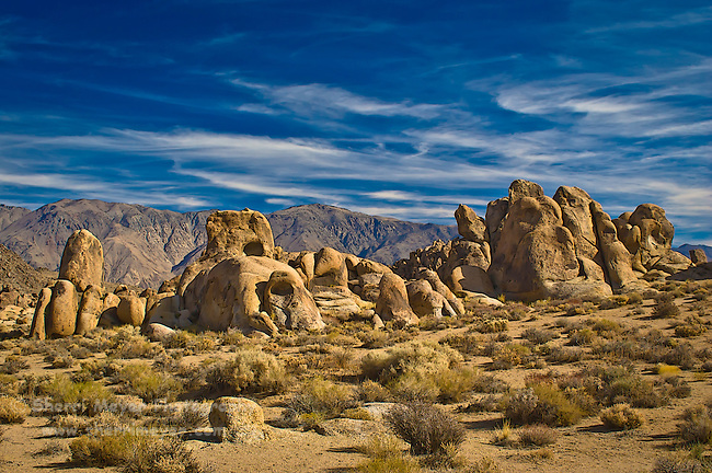 Sierra View from the Alabama Hills, Eastern Sierras, California