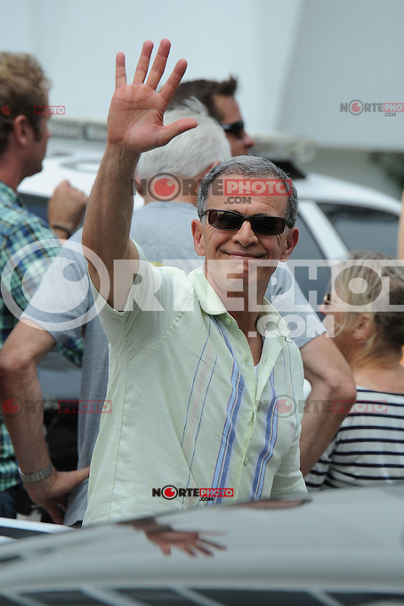 MIAMI BEACH , FL - MAY 15:  Tony Plana on the movie set of Pain & Gain on May 15, 2012 in Miami Beach, Florida. © mpi04/MediaPunch Inc.