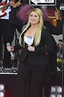 NEW YORK, NY - OCTOBER 11:  Meghan Trainor on NBC's Today promoting and celebrating International Day of the Girl in New York City on October 11, 2018. Credit: John Palmer/MediaPunch