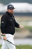 Shane Lowry (IRL) on the 17th green during the 3rd round of the US Open Championship, Pebel Beach Golf Links, Monterrey, Calafornia, USA. 15/06/2019.<br /> Picture Fran Caffrey / Golffile.ie<br /> <br /> All photo usage must carry mandatory copyright credit (© Golffile | Fran Caffrey)