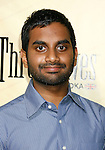 "HOLLYWOOD, CA. - August 24: Aziz Ansari arrives at the Los Angeles premiere of ""Extract"" at the ArcLight Hollywood on August 24, 2009 in Hollywood, California."