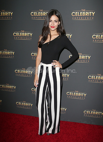 UNIVERSAL CITY, CA - JULY 16: Victoria Justice at The Celebrity Experience at the Hilton Universal in Universal City, California on July 16, 2017. Credit: Faye Sadou/MediaPunch