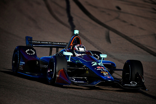 2018 Verizon IndyCar Series Phoenix testing<br /> Phoenix Raceway, Avondale, Arizona, USA<br /> Thursday 8 February 2018<br /> Zach Veach, Andretti Autosport Honda<br /> World Copyright: Scott R LePage/LAT Images<br /> ref: Digital Image _SRL0626