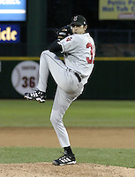 May 15, 2004:  Pitcher Mike Adams (31) of the Indianapolis Indians, Triple-A International League affiliate of the Milwaukee Brewers, during a game at Frontier Field in Rochester, NY.  Photo by:  Mike Janes/Four Seam Images