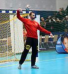 08.01.2019, Hohenschoenhausen, Berlin, GER, Handball WM, DHB,  TRAINING, im Bild <br /> Andreas Wolff (GER #33)<br /> <br />      <br /> Foto &copy; nordphoto / Engler