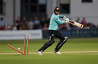 Rikki Clark of Surrey is bowled by Hardus Viljoen during Kent Spitfires vs Surrey, Vitality Blast T20 Cricket at the St Lawrence Ground on 23rd August 2019