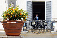 Minister of Justice Alfonso Bonafede at the balcony of Villa Pamphilj, where the Italian Premier convened the States General of Economy. The summit was strictly behind closed doors and the press was kept outside. Rome (Italy), June 13th 2020<br /> Samantha Zucchi Insidefoto
