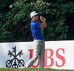Rafael Cabrera Bello of Spain tees off the 10th hole during the 58th UBS Hong Kong Golf Open as part of the European Tour on 10 December 2016, at the Hong Kong Golf Club, Fanling, Hong Kong, China. Photo by Marcio Rodrigo Machado / Power Sport Images