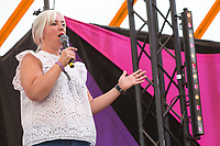 21st July 2019: Comedian Lou Conran plays the third day of the 2019 Latitude Festival 2019 at Henham Park, Suffolk.