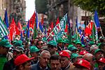 Manifestazione regionale dei lavoratori forestali a Palermo