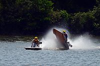 Frame 10: 40-M rides up the rooster tail of 20-M    (Outboard Hydroplane)