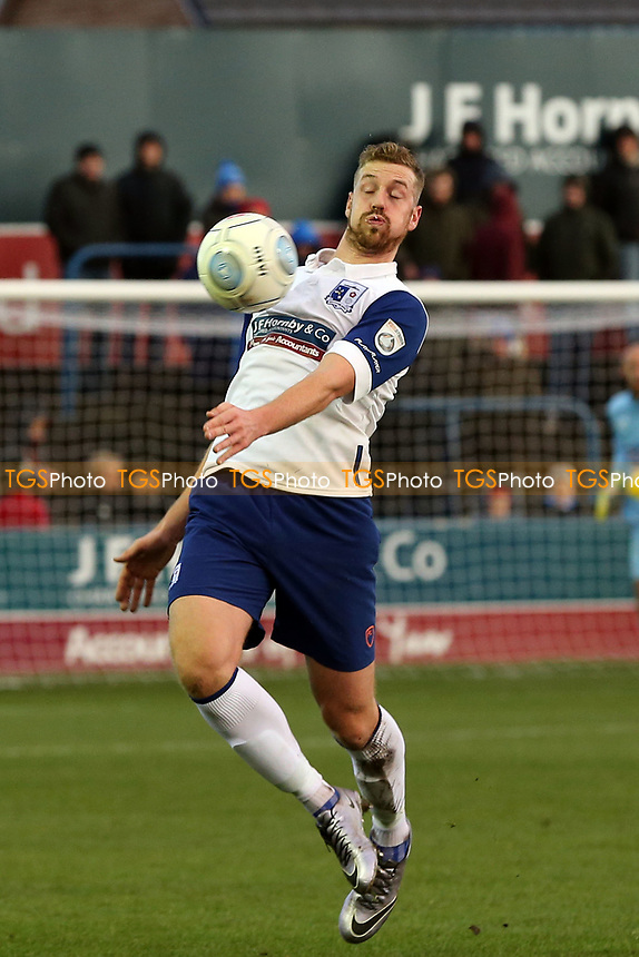 Jordan White of Barrow during Barrow vs Dagenham & Redbridge, Vanarama National League Football at the Furness Building Society Stadium on 9th December 2017