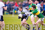 Kerry's Paul Murphy and IT Tralee's Barry O'Hare in action in the McGrath cup at John Mitchels on Sunday.