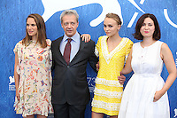 VENICE, ITALY - SEPTEMBER 08: Actress Natalie Portman, actor Emmanuel Salinger, actress Lily Rose Depp, director Rebecca Zlotowski attend a photocall for 'Planetarium' during the 73rd Venice Film Festival at Palazzo del Casino on September 8, 2016 in Venice, Italy.<br /> CAP/GOL<br /> &copy;GOL/Capital Pictures /MediaPunch ***NORTH AND SOUTH AMERICAS ONLY***
