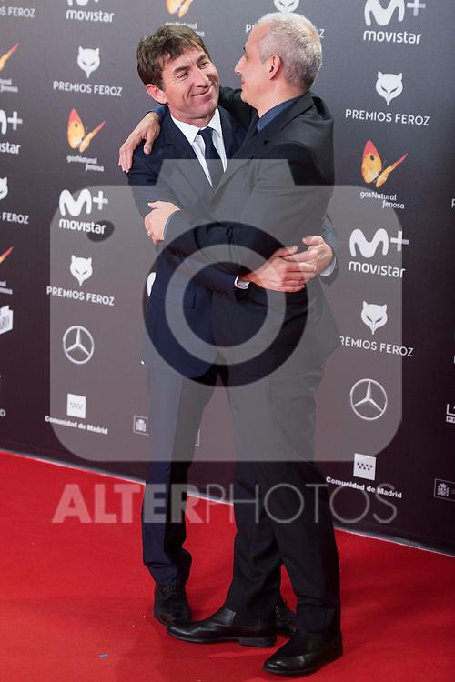 Antonio de la Torre and Pablo Berger attends red carpet of Feroz Awards 2018 at Magarinos Complex in Madrid, Spain. January 22, 2018. (ALTERPHOTOS/Borja B.Hojas)