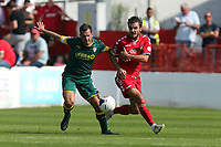 John Goddard of Ebbsfleet United and Michael Doyle of Notts County during Ebbsfleet United vs Notts County, Vanarama National League Football at The Kuflink Stadium on 24th August 2019