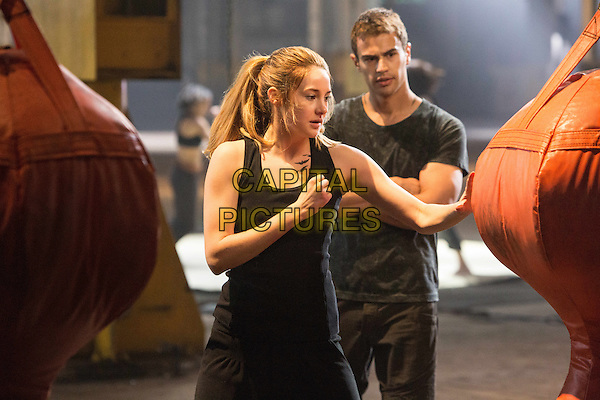 Shailene Woodley, Theo James<br /> in Divergent (2014) <br /> *Filmstill - Editorial Use Only*<br /> CAP/NFS<br /> Image supplied by Capital Pictures