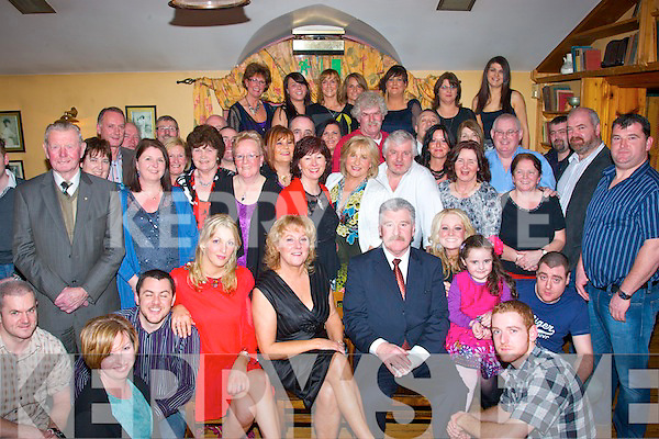 Michael Pacelli Fitzgerald(seated Rt)Woodlee,Tralee enjoying his 60th birthday party last Saturday night in Stoker's Lodge bar/restaurant,Clounalour,Tralee surrounded by many family and friends.