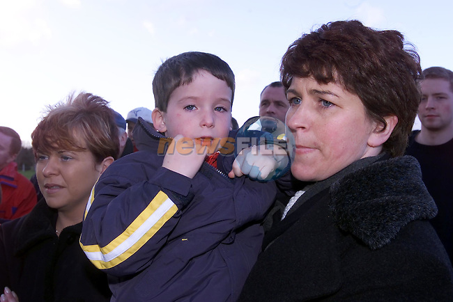 mark and Monica Mooney at the unvaling a plaque in St Pats Gaa Grounds to Paddy Mooney..Picture Fran Caffrey Newsfile.