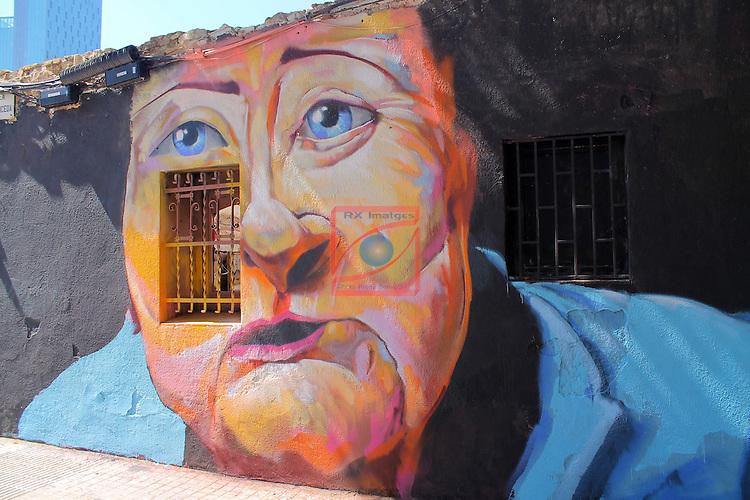 Street Art-Graffittis.<br /> Carrer Espronceda<br /> Barcelona-Poblenou (Sant Marti).