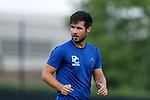 DURHAM, NC - SEPTEMBER 05: Presbyterian's Jakob Luedtke (GER). The Duke University Blue Devils hosted the Presbyterian College Blue Hose on September 5, 2017 at Koskinen Stadium in Durham, NC in a Division I college soccer game. The game ended in a 1-1 tie after two overtimes.