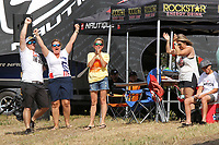 ORLANDO, FL - April 29:  Family and friends celebrate Daniel Johnson's performance. Scenes from  WWA Nautique Wake Series Open 2017 at  the Orlando Watersports Complex on April 29, 2017 in Orlando, Florida. (Photo by Liz Lamont/Eclipse Sportswire/Getty Images)