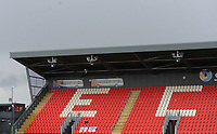 A general view of St James Park, home of Exeter City<br /> <br /> Photographer Kevin Barnes/CameraSport<br /> <br /> Emirates FA Cup First Round - Exeter City v Blackpool - Saturday 10th November 2018 - St James Park - Exeter<br />  <br /> World Copyright &copy; 2018 CameraSport. All rights reserved. 43 Linden Ave. Countesthorpe. Leicester. England. LE8 5PG - Tel: +44 (0) 116 277 4147 - admin@camerasport.com - www.camerasport.com