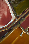 Salt lake ponds in San Francisco from the air