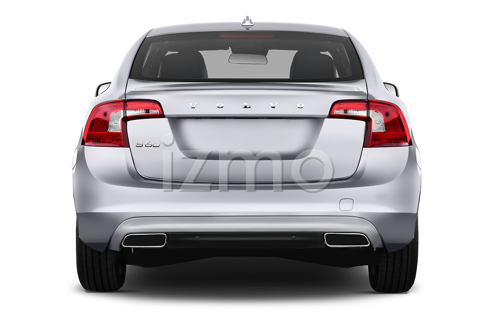 Straight rear view of 2017 Volvo S60 T5 4 Door Sedan Rear View  stock images