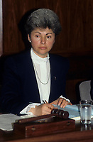 Vera Danyluk, Mayor of Ville Mont Royal  seen in a <br /> file photo circa 1988. .  she passed away in october 2010<br /> <br />    <br /> photo : (c) images Distribution