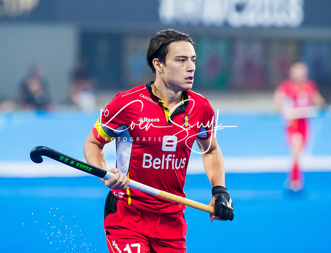 BHUBANESWAR (INDIA) - Thomas Briels (Belgie)  tijdens Belgie-Pakistan bij het WK Hockey heren.   COPYRIGHT KOEN SUYK