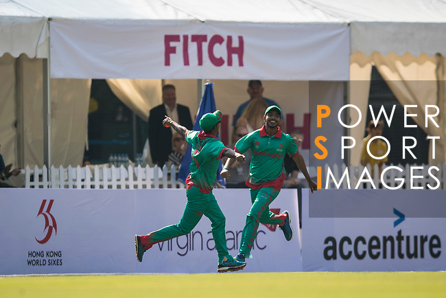 Qazi Onik Islam of Bangladesh celebrates during Day 1 of Hong Kong Cricket World Sixes 2017 Group B match between Bangladesh vs Sri Lanka at Kowloon Cricket Club on 28 October 2017, in Hong Kong, China. Photo by Yu Chun Christopher Wong / Power Sport Images