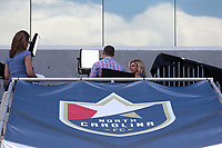Cary, North Carolina  - Saturday June 03, 2017: Aly Wagner, Dalen Cuff on the Lifetime pregame set prior to a regular season National Women's Soccer League (NWSL) match between the North Carolina Courage and the FC Kansas City at Sahlen's Stadium at WakeMed Soccer Park. The Courage won the game 2-0.