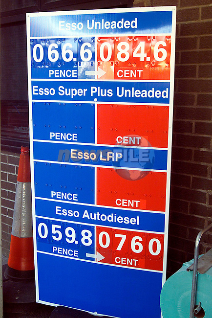 Euro price signs at the garage on the Dublin Road..Picture: Paul Mohan/Newsfile