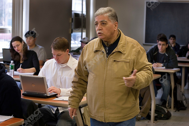 Doctor Donny George Youkhanna, former director of the Iraq Museum and former head of the Iraq State Board of Antiquities teaching a Mesopotamian Archeology class to 60 american students at Stony Brook University, Long Island, NY on 2/13/2007...