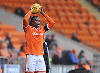 Blackpool's Donervon Daniels<br /> <br /> Photographer Kevin Barnes/CameraSport<br /> <br /> The EFL Sky Bet League One - Blackpool v Walsall - Saturday 9th February 2019 - Bloomfield Road - Blackpool<br /> <br /> World Copyright © 2019 CameraSport. All rights reserved. 43 Linden Ave. Countesthorpe. Leicester. England. LE8 5PG - Tel: +44 (0) 116 277 4147 - admin@camerasport.com - www.camerasport.com