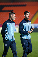 27th December 2019; Dens Park, Dundee, Scotland; Scottish Championship Football, Dundee Football Club versus Dundee United; Josh Todd and Shaun Byrne of Dundee inspect the pitch before the match - Editorial Use