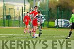 Gary Vaughan  Killarney celtic takes on the Regional defense during the FAI cup on Saturday in Killarney
