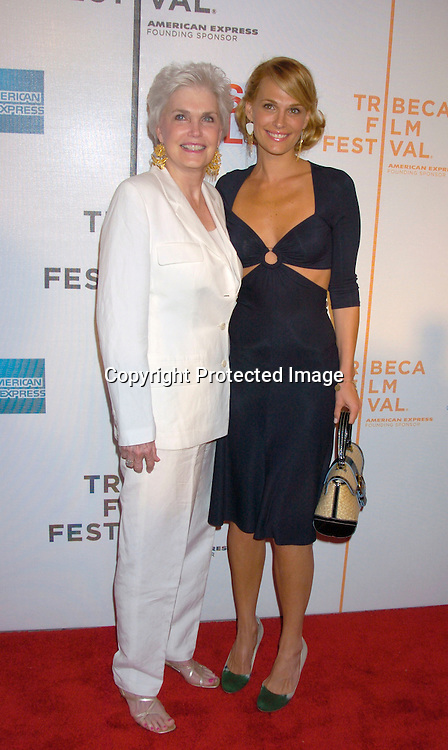 """Molly Sims and Mom Dorothy..at the Opening Night of The Tribeca Film Festival screening of """"Raising Helen"""" on May 1, 2004 at the ..Tribeca Performing Arts Center. ..Photo By Robin Platzer, Twin Images.."""