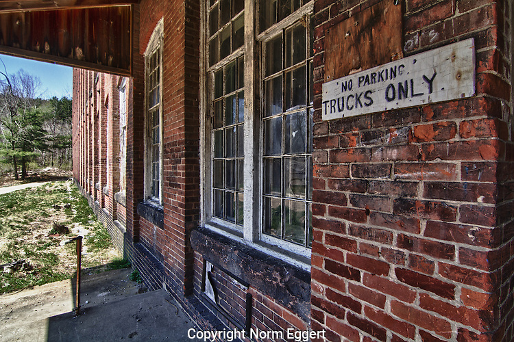 The Hardwick Knitting Mill in Gilbertville, MA was abandoned long ago.