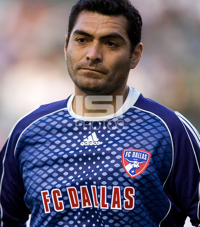 FC Dallas goalkeeper Dario Sala (44) makes a save during a MLS match. FC Dallas defeated Chivas USA 2-0 at Home Depot Center Stadium, in Carson, Calif., on Sunday, April 20, 2008.