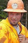 Nature Conservancy, Washington Chapter, Ellsworth Creek Preserve, forest restoration, forest thinning, blowdown prevention, Michael Innis, log loader operator, Emerald Edge Project, Willapa Bay, Pacific County, Washington Coast, Washington State, Pacific Northwest, United States,