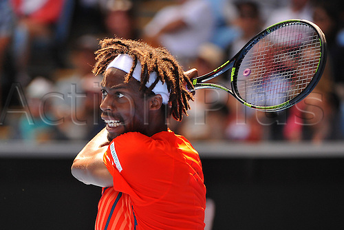 25.01.2016. Melbourne Park, Melbourne, Australia. Australian Open Tennis Championships. Start of week 2 of tournament.  Gael Monfils (FRA) beats A Kuznetsov (RUS)  in 4 sets to advance
