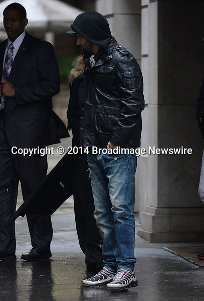 Pictured: Madonna, Mercy James<br /> Mandatory Credit &copy; Jayme Oak/Broadimage <br /> Madonna and family at Kabbalah Centre in NYC<br /> <br /> 3/29/14, New York, New York, United States of America<br /> <br /> Broadimage Newswire<br /> Los Angeles 1+  (310) 301-1027<br /> New York      1+  (646) 827-9134<br /> sales@broadimage.com<br /> http://www.broadimage.com