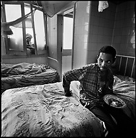 Huambo, Angola, May, 24, 2006.Jose, 31. More than 300 TB patients live in Huambo State Sanatorium, hundreds more are outside patients. TB is endemic in the region, fueled by poverty, malnutrition, inadequate hygiene and the rapid spreading of HIV/AIDS since the end of the civil war in 2002.