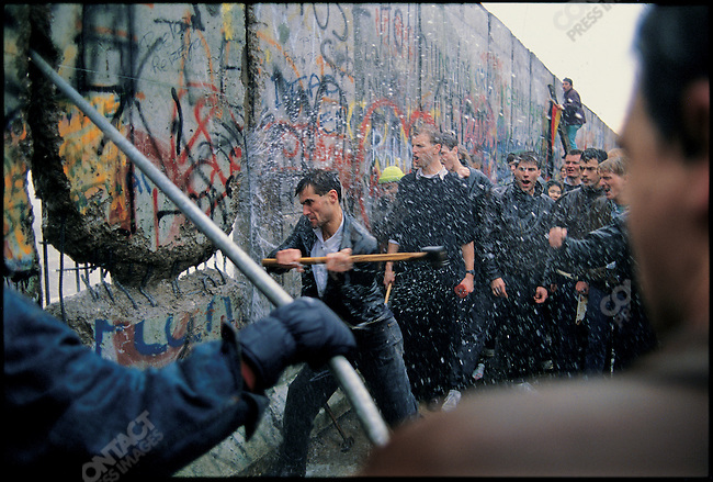 Fall of the Berlin Wall. &amp;#xD;West Berlin, Germany, November 1989&amp;#xD;<br />