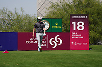 Connor Syme (SCO) on the 18th during Round 1 of the Commercial Bank Qatar Masters 2020 at the Education City Golf Club, Doha, Qatar . 05/03/2020<br /> Picture: Golffile | Thos Caffrey<br /> <br /> <br /> All photo usage must carry mandatory copyright credit (© Golffile | Thos Caffrey)
